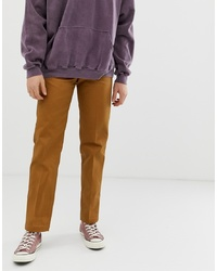 Dickies 873 Work Pant Chino In Straight Fit In Brown Duck Duck