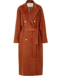Acne Studios Belted Mohair Blend Coat
