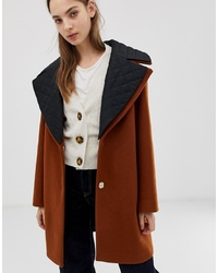 ASOS DESIGN Quilted Collar Coat