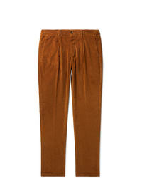 Altea Tapered Cotton Blend Corduroy Drawstring Trousers