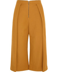 Topshop Unique High Rise Pleated Wool Twill Culottes
