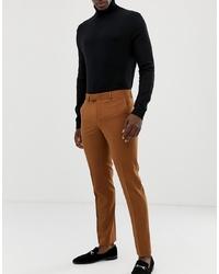 Farah Smart Farah Henderson Skinny Suit Trousers In Tan