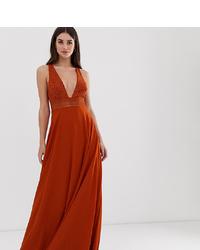 Asos Tall Asos Design Tall Sleeveless Maxi Dress With Lace Bodice