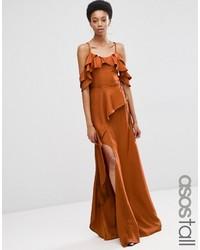 Asos Tall Asos Tall Cold Shoulder Ruffle Cami Maxi Dress