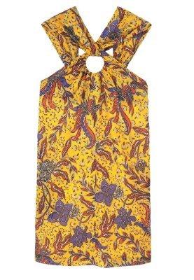 Mango Gambia Summer Dress Yellow