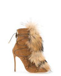 Dsquared2 Faux Fur Embellished Boots