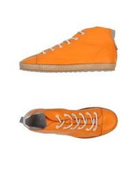 Tobacco High Top Sneakers