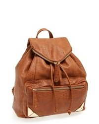 Tobacco Leather Backpack