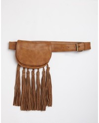 Asos Collection Fringe Tassel Waist And Hip Purse Belt