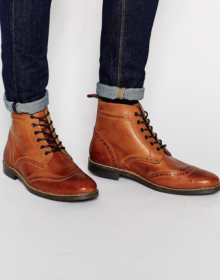 93c358a1163 £89, Red Tape Brogue Boots