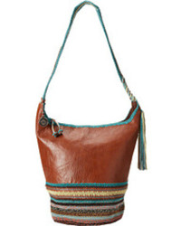 Tobacco Leather Bucket Bag