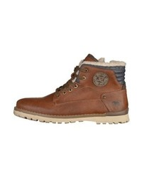 Mustang Lace Up Boots Chestnut
