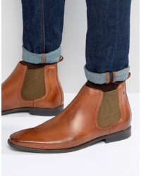 Tobacco Leather Chelsea Boots