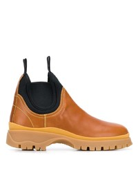 Prada Panelled Slip On Boots