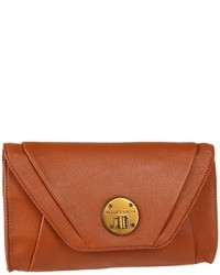 Tobacco Leather Clutch