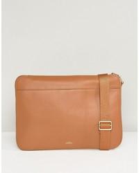 Knomo Mason Powered Leather Clutch Bag