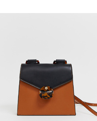 Liars & Lovers Brown Foldover Cross Body Bag With Tort Resin Detail
