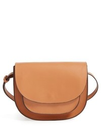 Sole Society Claire Faux Leather Crossbody Bag Brown