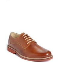 Tobacco Leather Derby Shoes