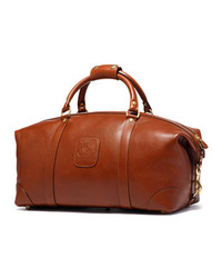 Tobacco Leather Duffle Bag
