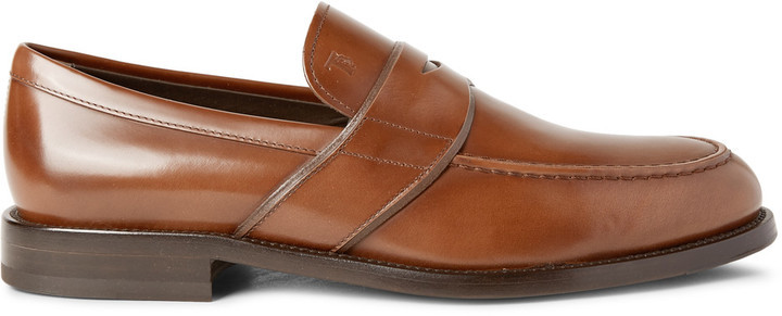 dca1250680c ... Tod s Polished Leather Penny Loafers ...