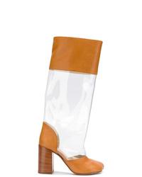MM6 MAISON MARGIELA Transparent Panel Boots