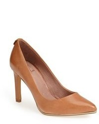 Tobacco Leather Pumps
