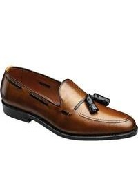 Tobacco Leather Tassel Loafers