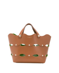 Sara Battaglia Cut Out Wave Tote Bag
