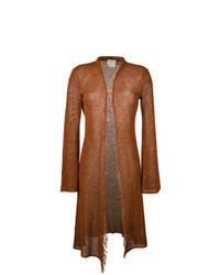 Tobacco Long Cardigan