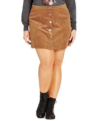 Plus size miss mod button front miniskirt medium 751138