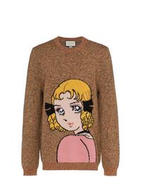 Gucci Manga Girl Intarsia Wool Jumper