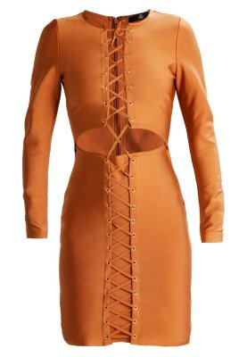 Missguided Premium Bandage Lace Up Cocktail Dress Party Dress Rust