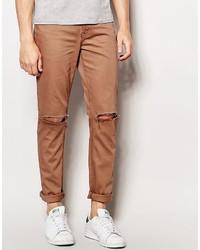 Tobacco Skinny Jeans