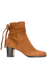 Tied detailing ankle boots medium 820388