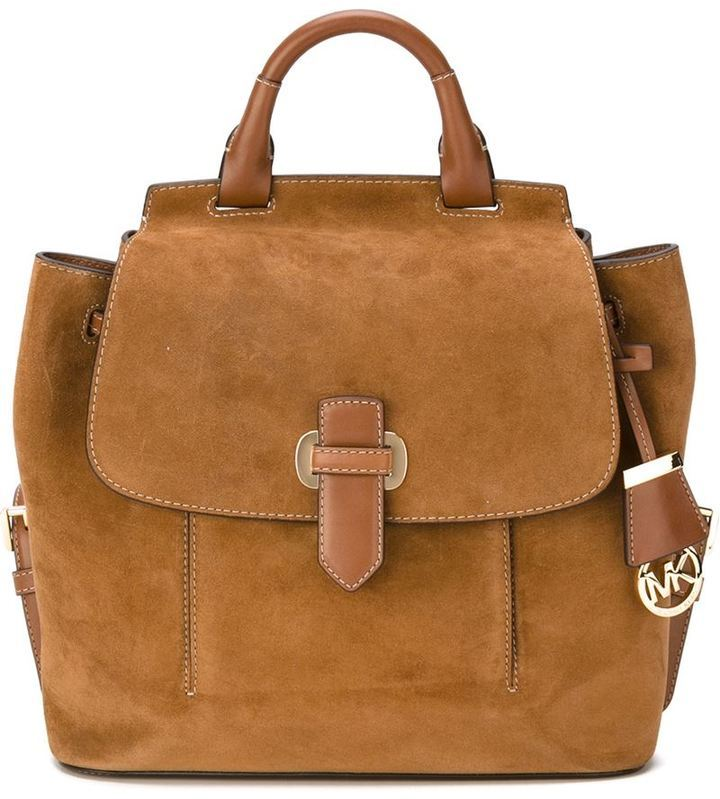 01428af0e3e ... reduced michl michl kors romy backpack. tobacco suede backpack by  michael 49830 2f7e5