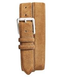 Tobacco Suede Belts for Men | Men's Fashion | Lookastic UK