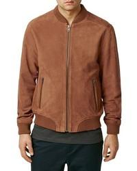Orange suede bomber jacket medium 449660