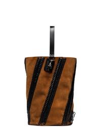 Proenza Schouler Brown Hex Suede And Leather Bucket Backpack