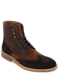 Tobacco Suede Casual Boots