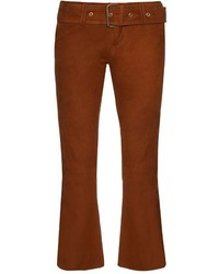 Marquesalmeida flared suede cropped trousers medium 778850