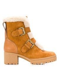 See by Chloe See By Chlo Buckled Shearling Boots