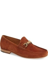 Tobacco Suede Loafers