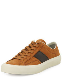 Tobacco Suede Low Top Sneakers