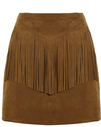 Tobacco Suede Mini Skirt