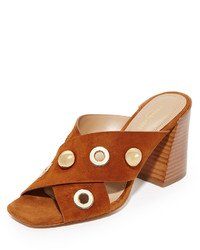 Michael Kors Michl Kors Collection Brianna Crisscross Mules With Grommets