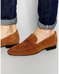 Tassel loafers in tan suede medium 3645296