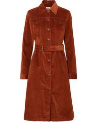 MM6 MAISON MARGIELA Cotton Blend Corduroy Trench Coat