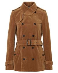Saint Laurent Double Breasted Cotton Corduroy Jacket