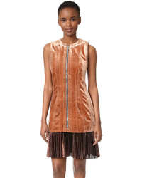 3.1 Phillip Lim Sculpted Velvet Dress With Pleated Hem